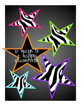 12 ways to a happy classroom, zebra jungle style, first days of school, rules