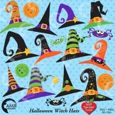 Halloween Clipart, Witch Hat Clipart, Witches Clip Art, AMB-207