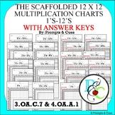 12 x 12 Scaffolded Multiplication charts