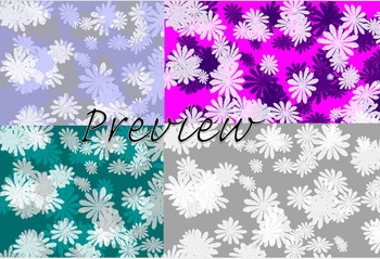 12 x 12 in Digital Papers in a Flower Pattern