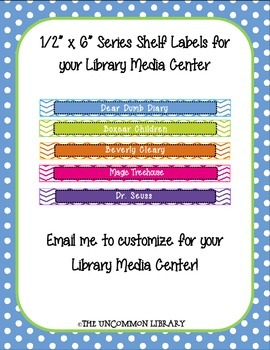 """1/2"""" x 6"""" Popular Series Shelf Labels for your Library Media Center"""