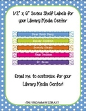 """1/2"""" x 6"""" Popular Series Shelf Labels for your Library Med"""