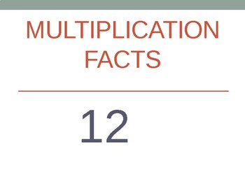 12 x Multiplication Flash Cards ppt