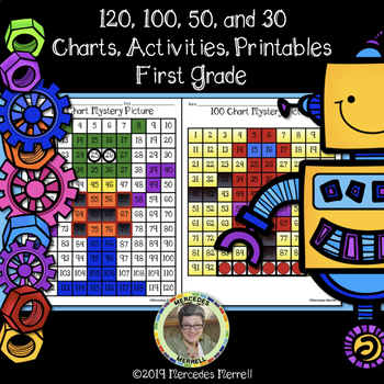 120, 100, 50, and 30 Charts, Activities First Grade Printables