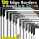 120 Borders Capped Edge Clip Art {12 designs in 10 Colors}