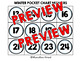 120 CHART NUMBERS KIT (WINTER POCKET CHART NUMBERS) COUNTING POCKET CHART CENTER
