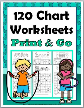 120 Charts - for the Entire Year - Print & Go, No Prep {12