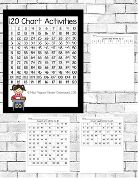 120 Chart Activities for Kindergarten and First
