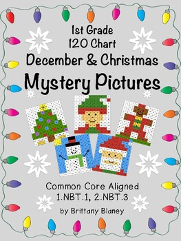 120 Chart CHRISTMAS Mystery Pictures 6-Pack