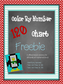 120 Chart Color By Number Freebie