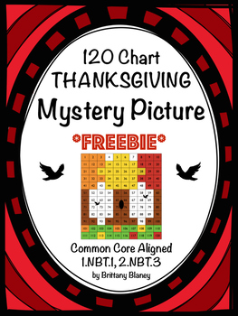 120 Chart Fall Thanksgiving Mystery Picture Freebie