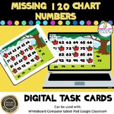 120 Chart Fill in Missing Numbers Digital Boom Task Cards