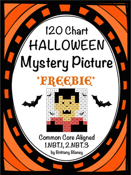 120 Chart Halloween Mystery Picture Freebie