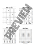 120 Chart - Including Empty, Full & Missing Numbers, 22 Pages