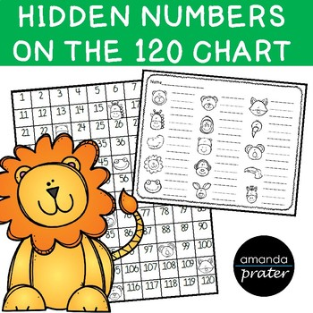 120 Chart Missing Number Center Jungle Themed