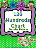 Math: 120 Chart Mother's & Father's Day Mystery Pictures *