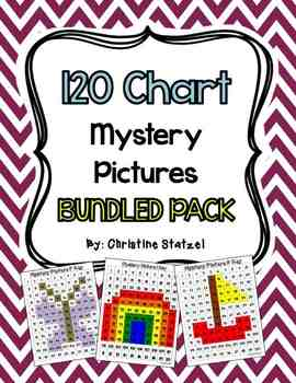 120 Chart Mystery Pictures BUNDLED PACK {CCSS Aligned}