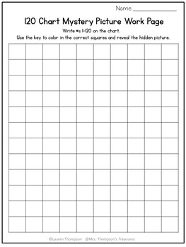 120 Chart Mystery Pictures - Christmas Math Pack