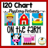 120 Chart Mystery Pictures - On the Farm - Place Value