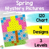 120 Chart Mystery Pictures - Spring | 4 Designs with 3 Lev
