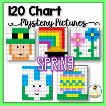 Spring Easter Math 120 Chart Mystery Pictures