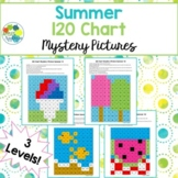 120 Chart Mystery Pictures - Summer | 4 Designs with 3 Lev