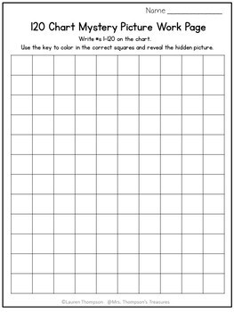 120 Chart Mystery Pictures - Summer Math Pack