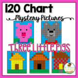 120 Chart Mystery Pictures - The Three Little Pigs