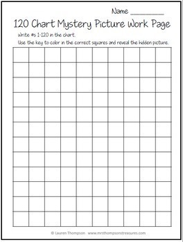 Place Value - 120 Chart Mystery Pictures Bundle
