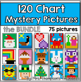 120 Chart Mystery Pictures Bundle
