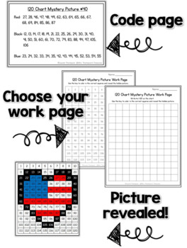 120 Chart Mystery Pictures - USA Patriotic