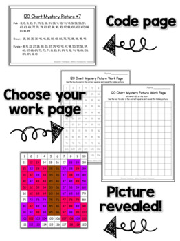120 Chart Mystery Pictures  Valentines Day Math Pack  TpT