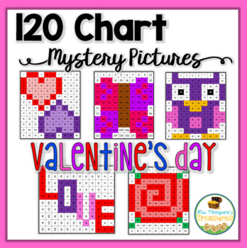 120 Chart Mystery Pictures - Valentine's Day Math Pack