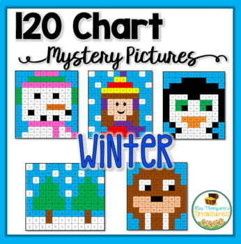 Winter Math - 120 Chart Mystery Pictures