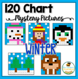 Winter Activities Math - 120 Chart Mystery Pictures