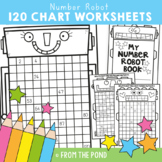 120 Chart Number Robot Worksheets Booklet