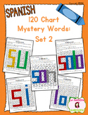 120 Chart Number Search: Mystery Sight Word Pack: Set 2 (Spanish)
