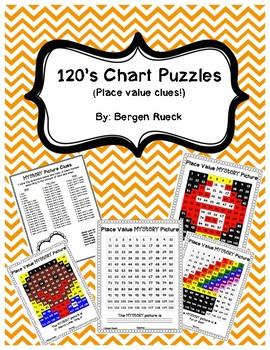 120 Chart Puzzles {Place Value Clues!}