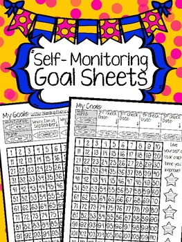 Self-Monitoring Goal Sheets