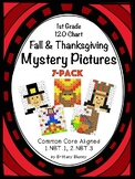 1st Grade 120 Chart Fall & Thanksgiving Mystery Pictures 7-Pack