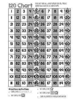 120 Chart for Homework Folder *Six Different Charts plus Homework Log*