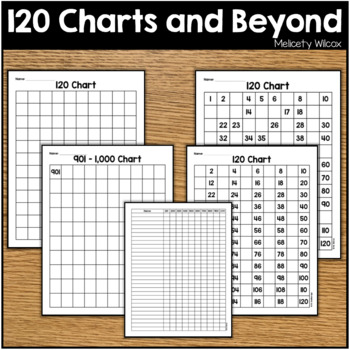 120 Charts and More: Numbers from 1-1000 Number Charts