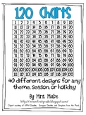 120 Charts for Common Core Math - 40 designs to choose from