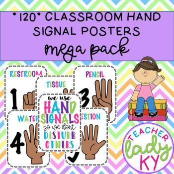120 Classroom Hand Signal Posters **MEGA PACK**