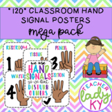 120 Classroom Hand Signal Posters **MEGA PACK**