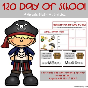 120 Day of School 1st Grade Math Activities