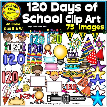 120 Days of School Clip Art  Personal and Commercial Use