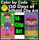 120 Days of School Color by Code Clip Art  ClipArt