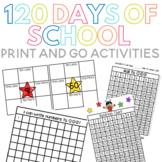 120 Days of School Print and Go Activities