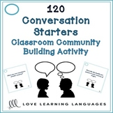 120 ESL - ELL conversation starters - Beginner to Advanced Levels